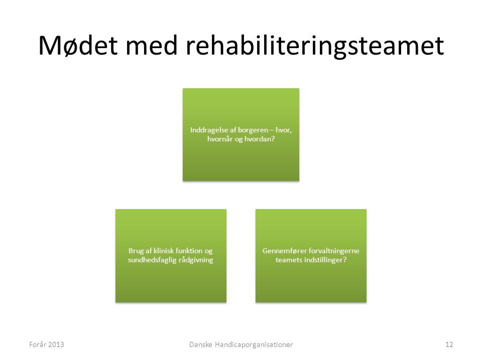 Mødet med rehabiliteringsteamet