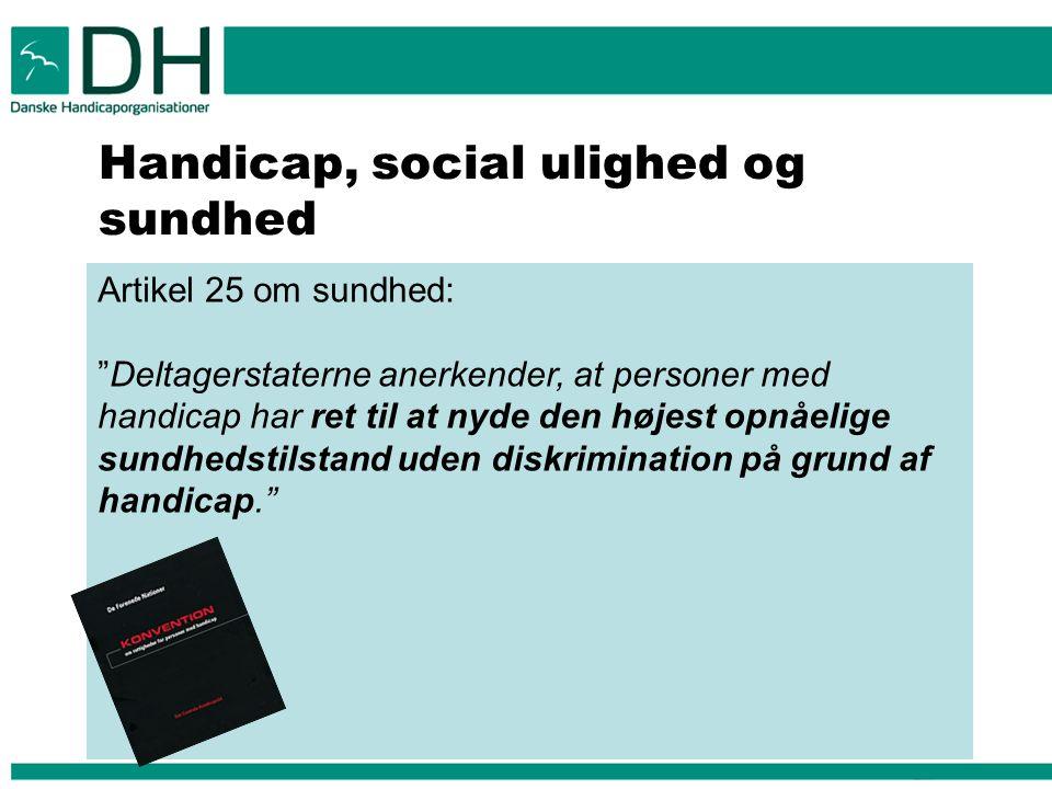 Handicap, social ulighed og sundhed