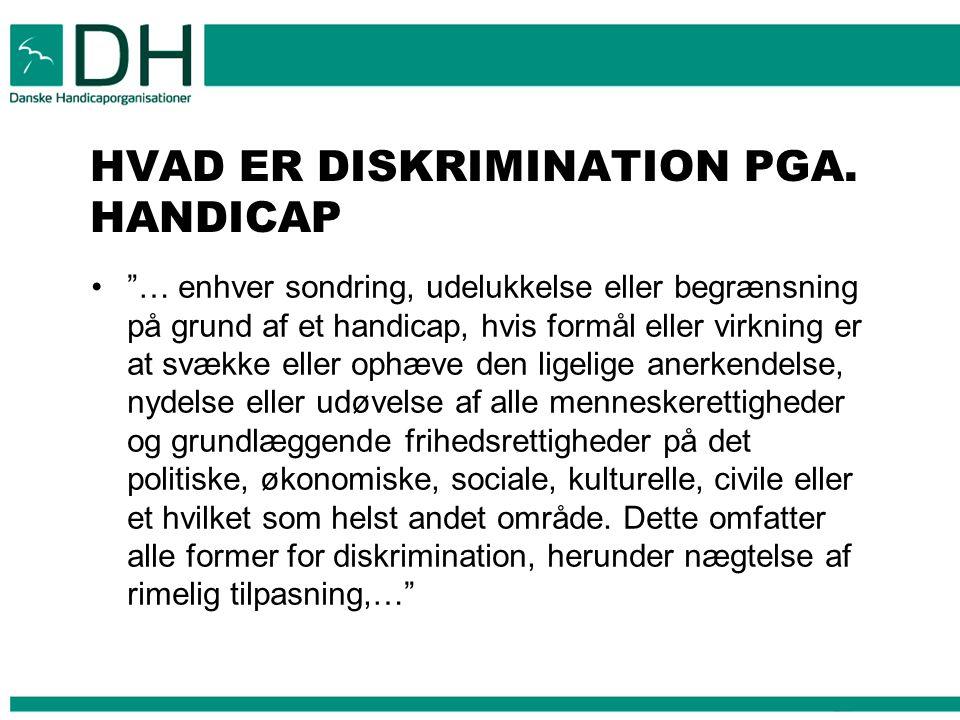 HVAD ER DISKRIMINATION PGA. HANDICAP
