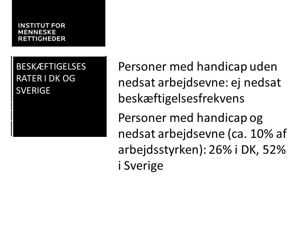 Beskæftigelses Rater i DK og Sverige.