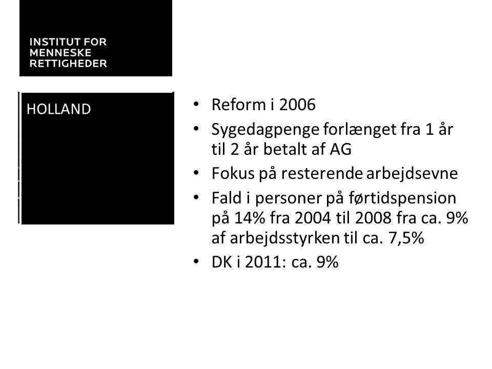 Sygedagpenge forlænget fra 1 år til 2 år betalt af AG