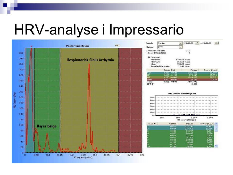 HRV-analyse i Impressario