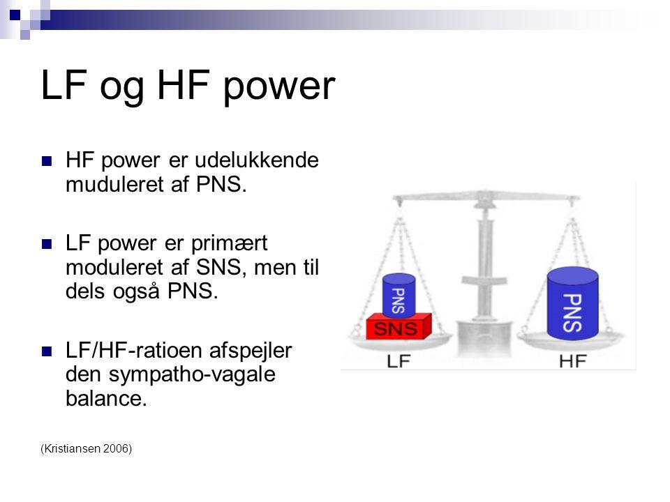 LF og HF power HF power er udelukkende muduleret af PNS.