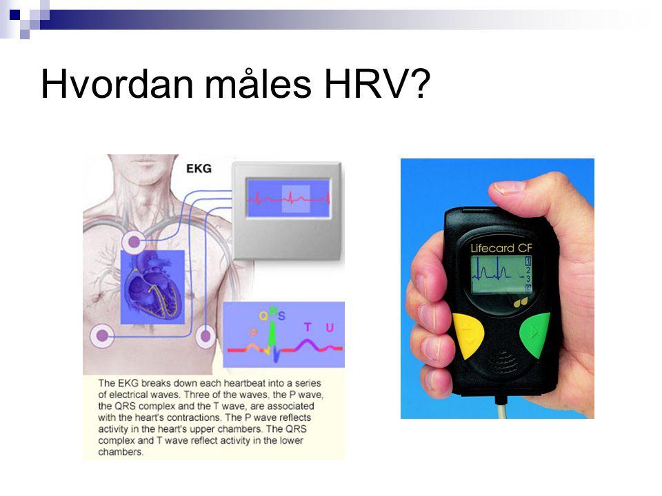Hvordan måles HRV