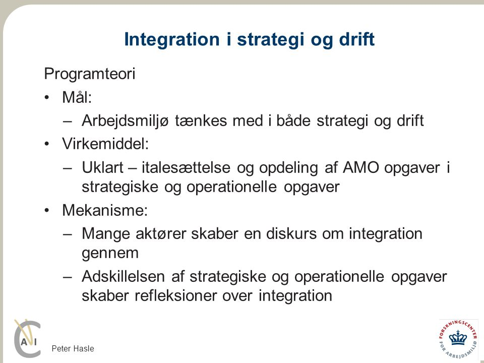 Integration i strategi og drift