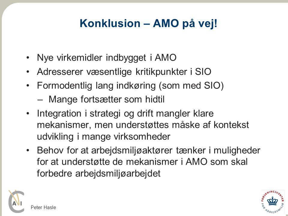 Konklusion – AMO på vej! Nye virkemidler indbygget i AMO