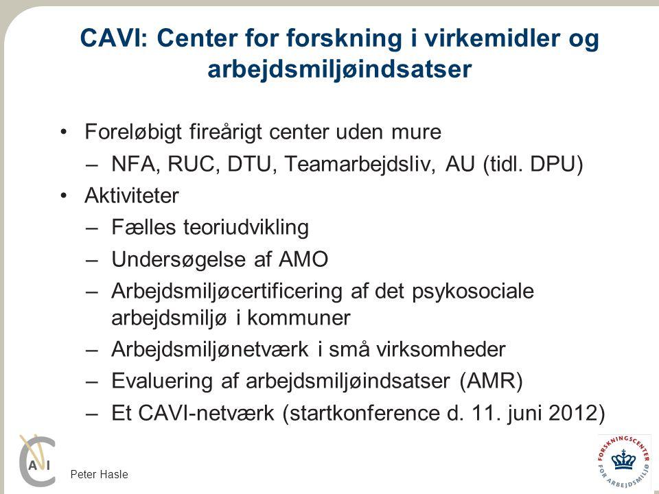 CAVI: Center for forskning i virkemidler og arbejdsmiljøindsatser