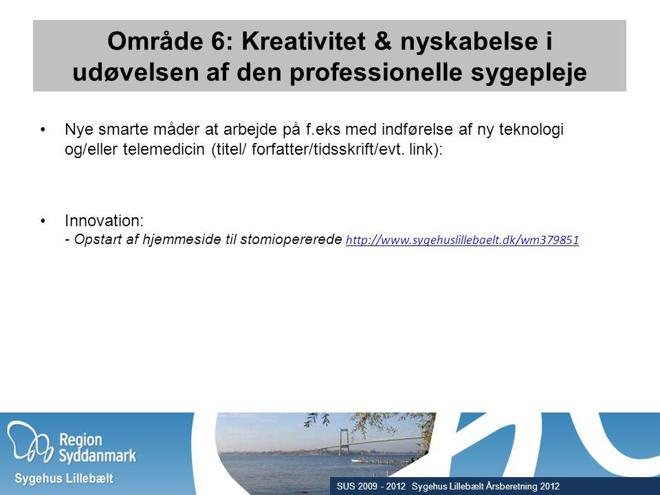 Område 6: Kreativitet & nyskabelse i udøvelsen af den professionelle sygepleje