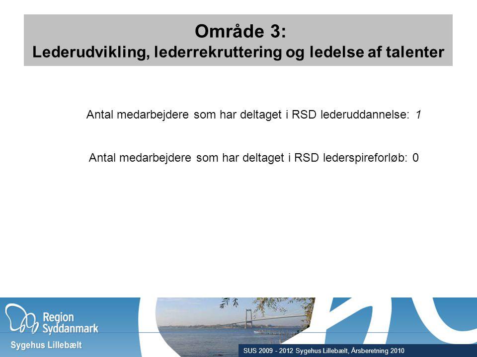 Område 3: Lederudvikling, lederrekruttering og ledelse af talenter