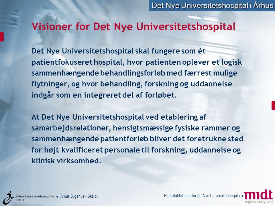 Visioner for Det Nye Universitetshospital