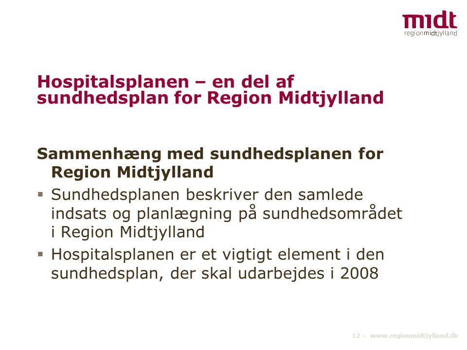 Hospitalsplanen – en del af sundhedsplan for Region Midtjylland