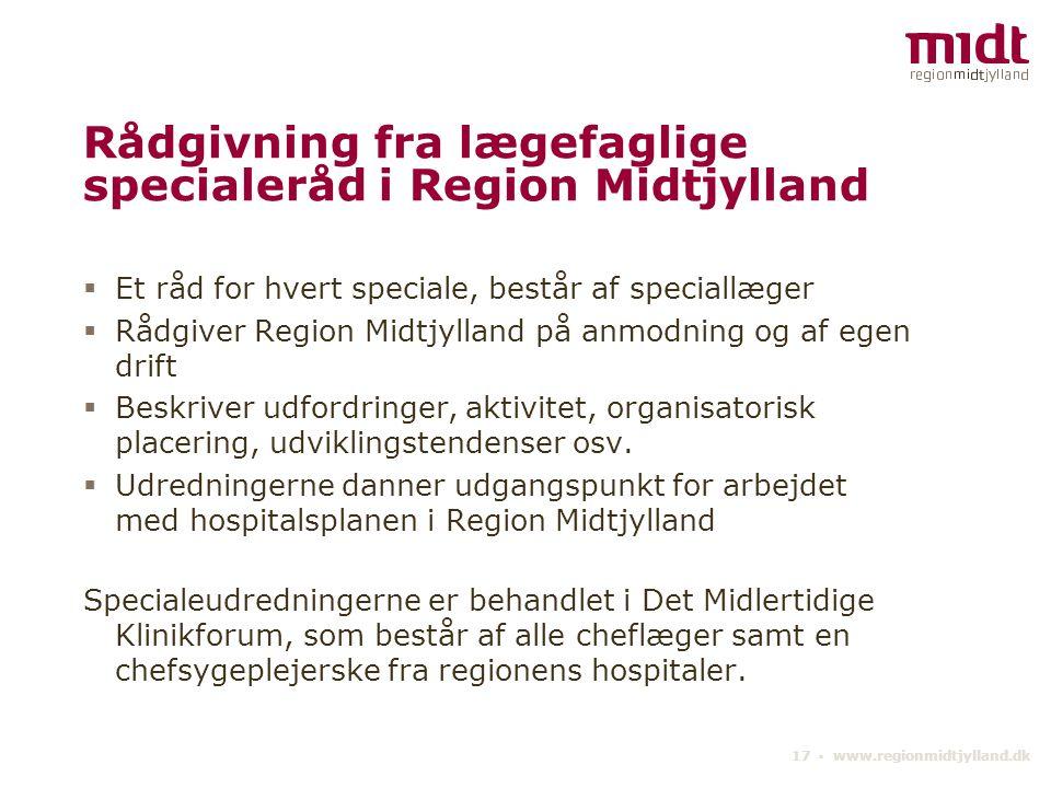 Rådgivning fra lægefaglige specialeråd i Region Midtjylland