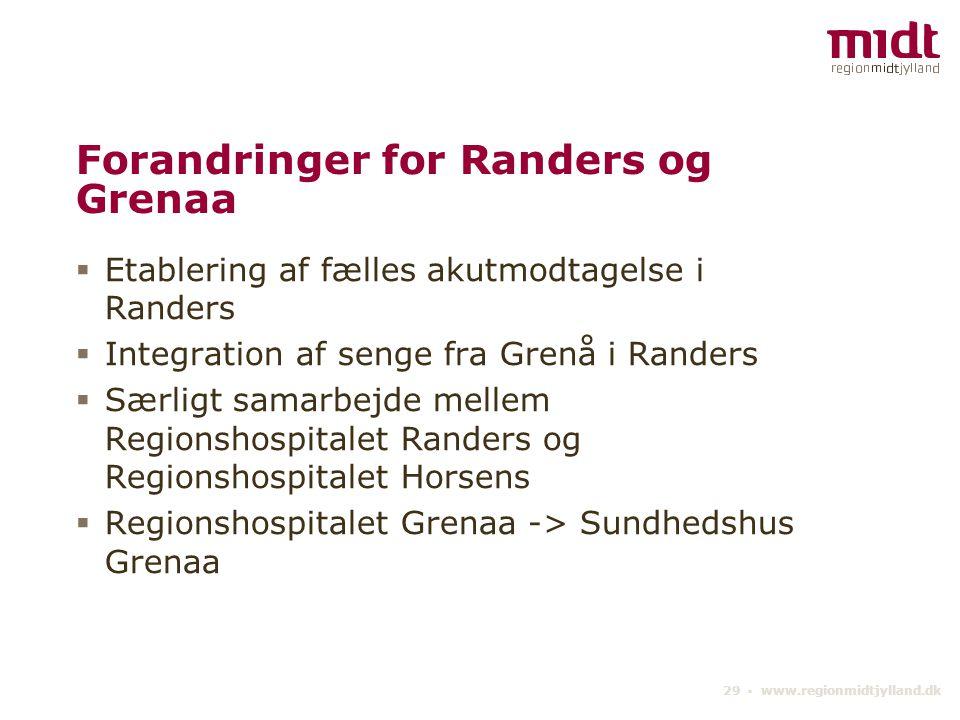 Forandringer for Randers og Grenaa