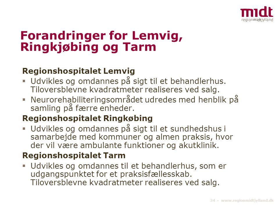 Forandringer for Lemvig, Ringkjøbing og Tarm