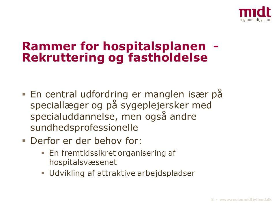 Rammer for hospitalsplanen - Rekruttering og fastholdelse