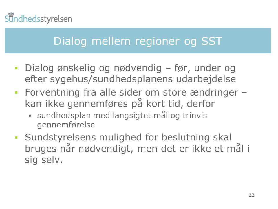 Dialog mellem regioner og SST