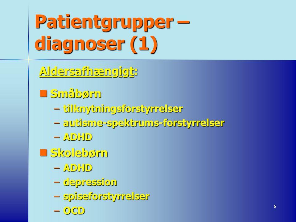 Patientgrupper – diagnoser (1)