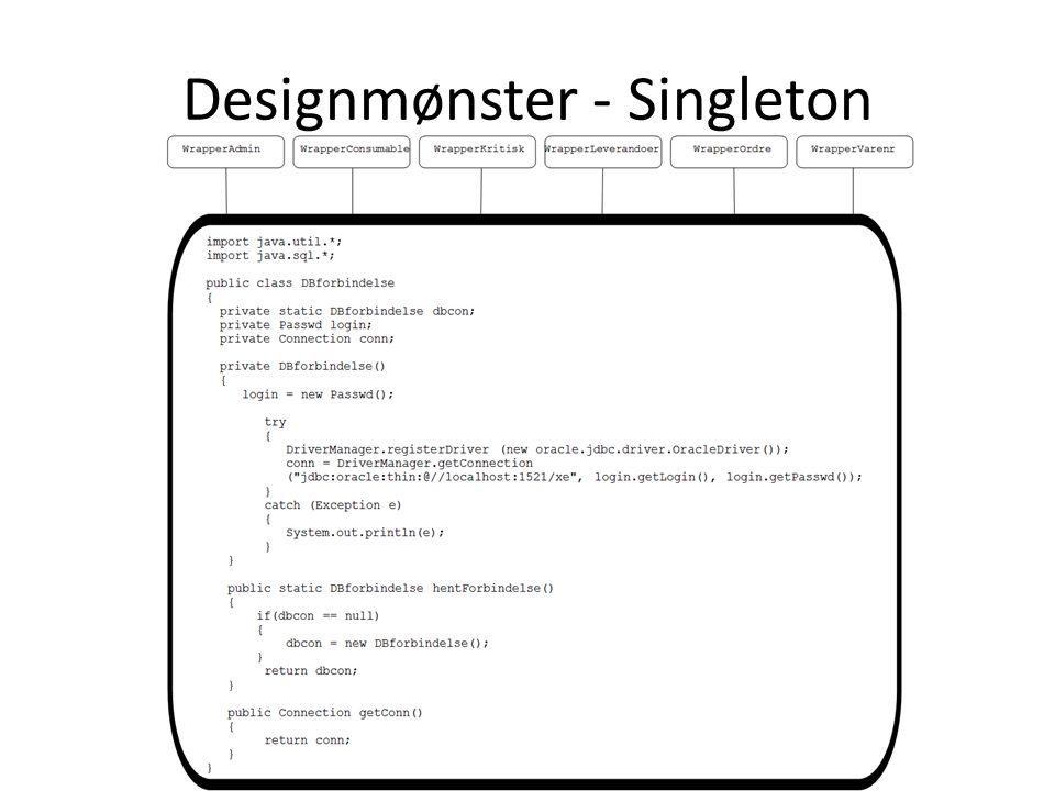 Designmønster - Singleton