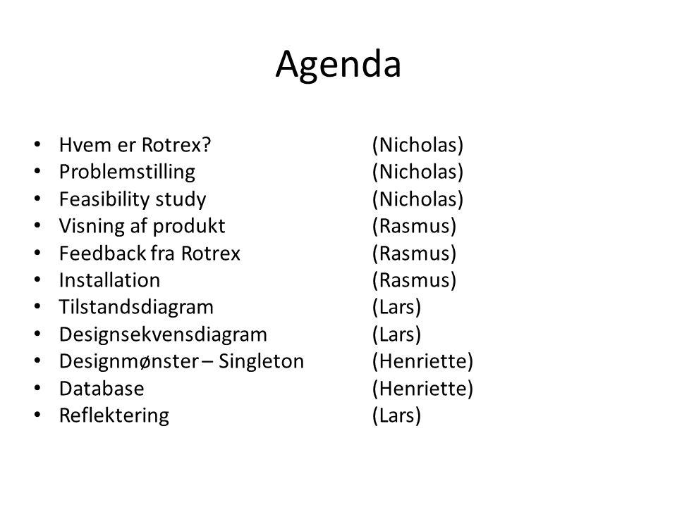 Agenda Hvem er Rotrex (Nicholas) Problemstilling (Nicholas)