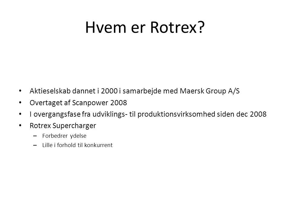Hvem er Rotrex Aktieselskab dannet i 2000 i samarbejde med Maersk Group A/S. Overtaget af Scanpower 2008.