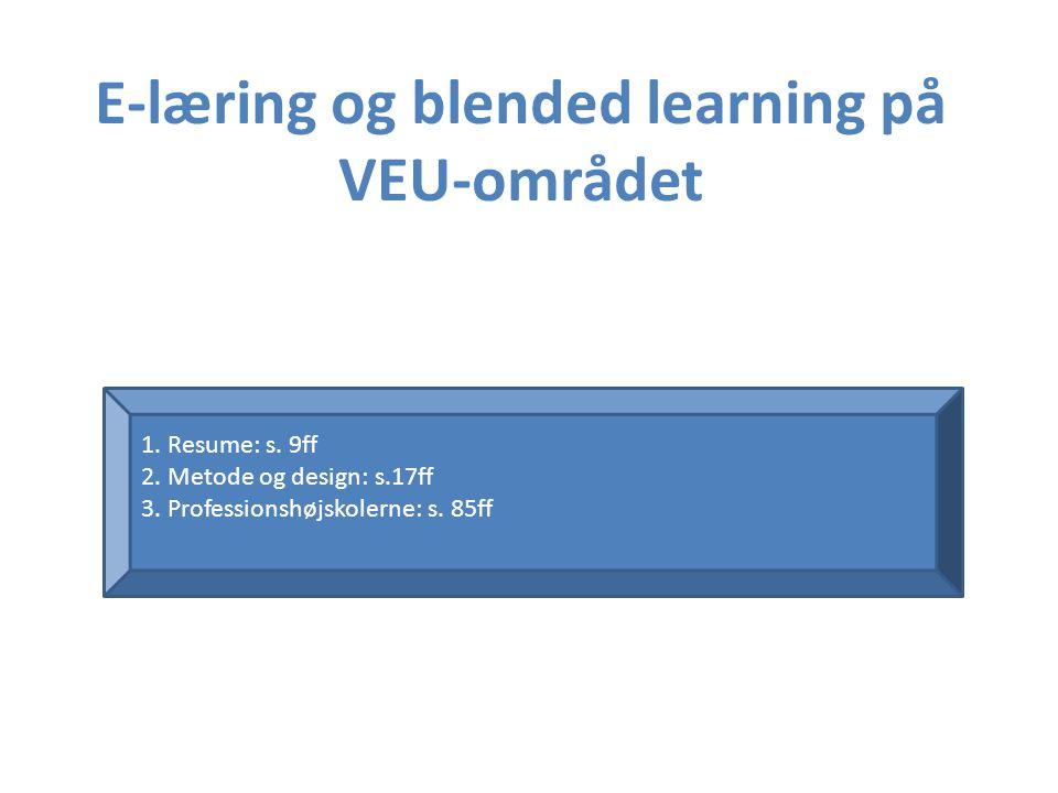 E-læring og blended learning på VEU-området