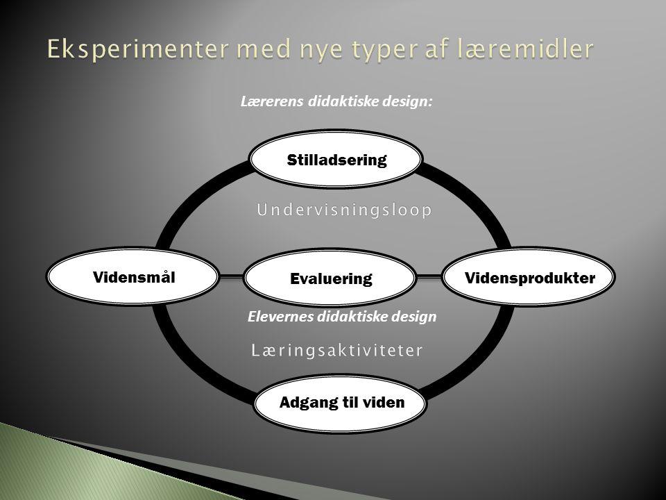 Eksperimenter med nye typer af læremidler