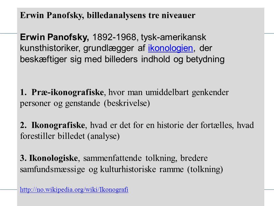 Erwin Panofsky, billedanalysens tre niveauer
