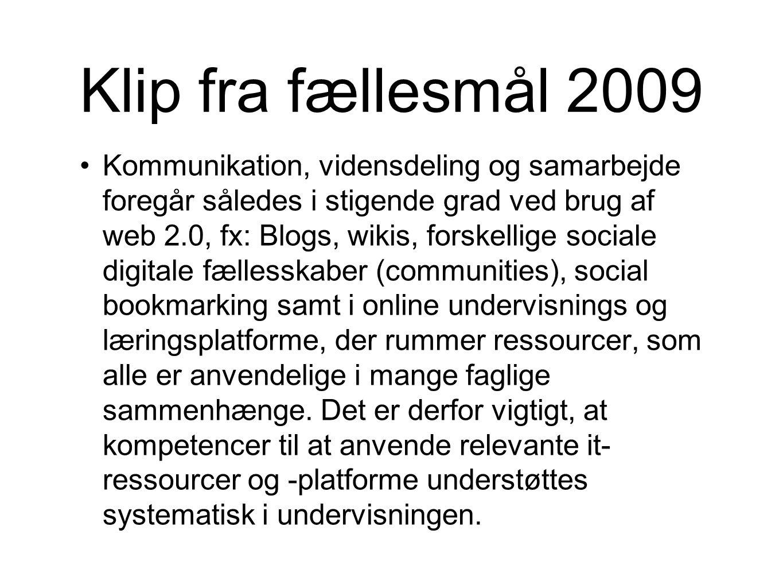 Klip fra fællesmål 2009