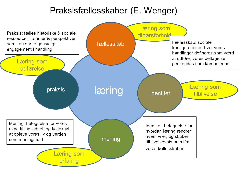Praksisfællesskaber (E. Wenger)