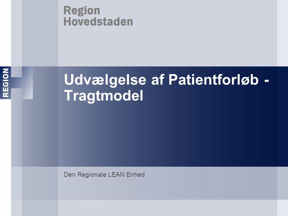 Udvælgelse af Patientforløb - Tragtmodel