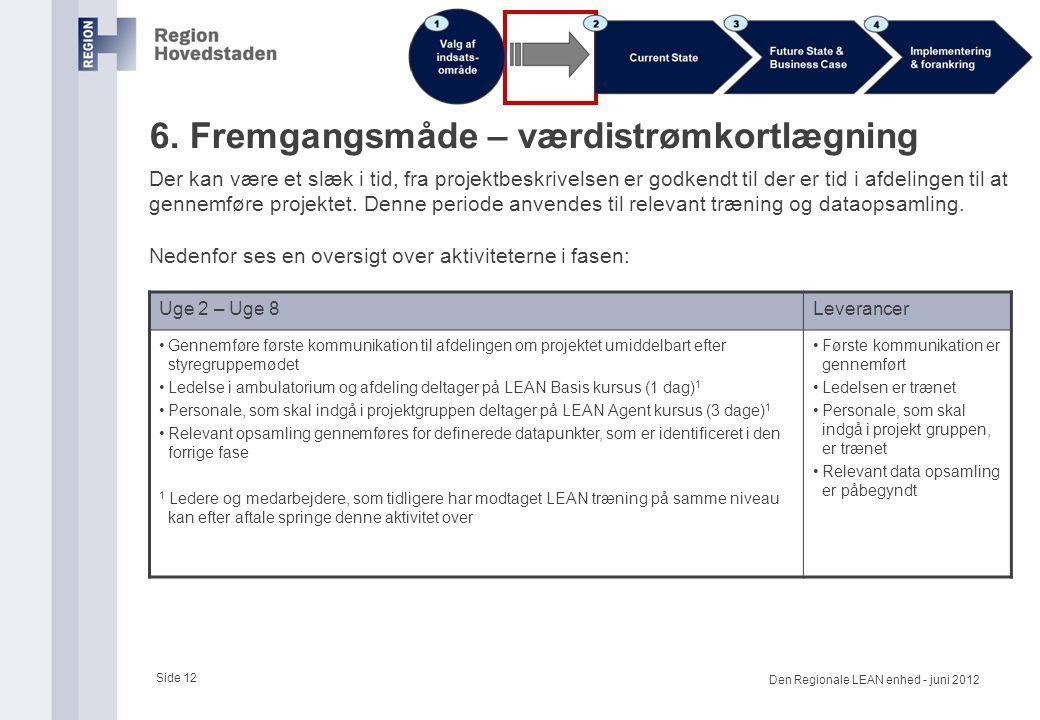 6. Fremgangsmåde – værdistrømkortlægning