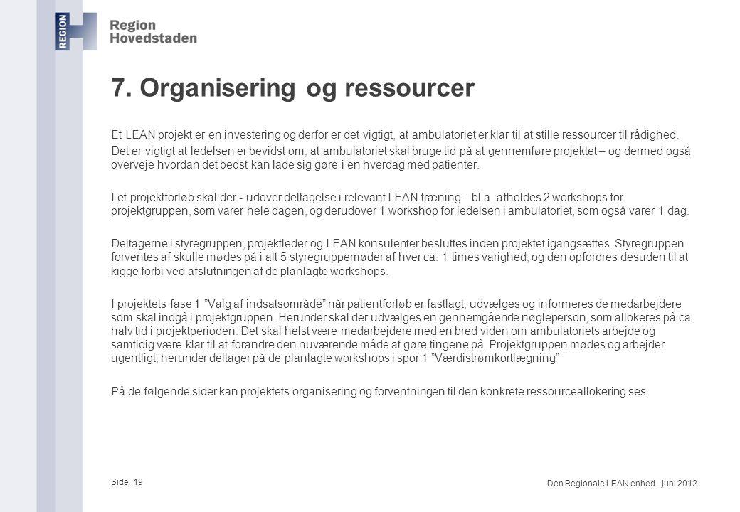7. Organisering og ressourcer