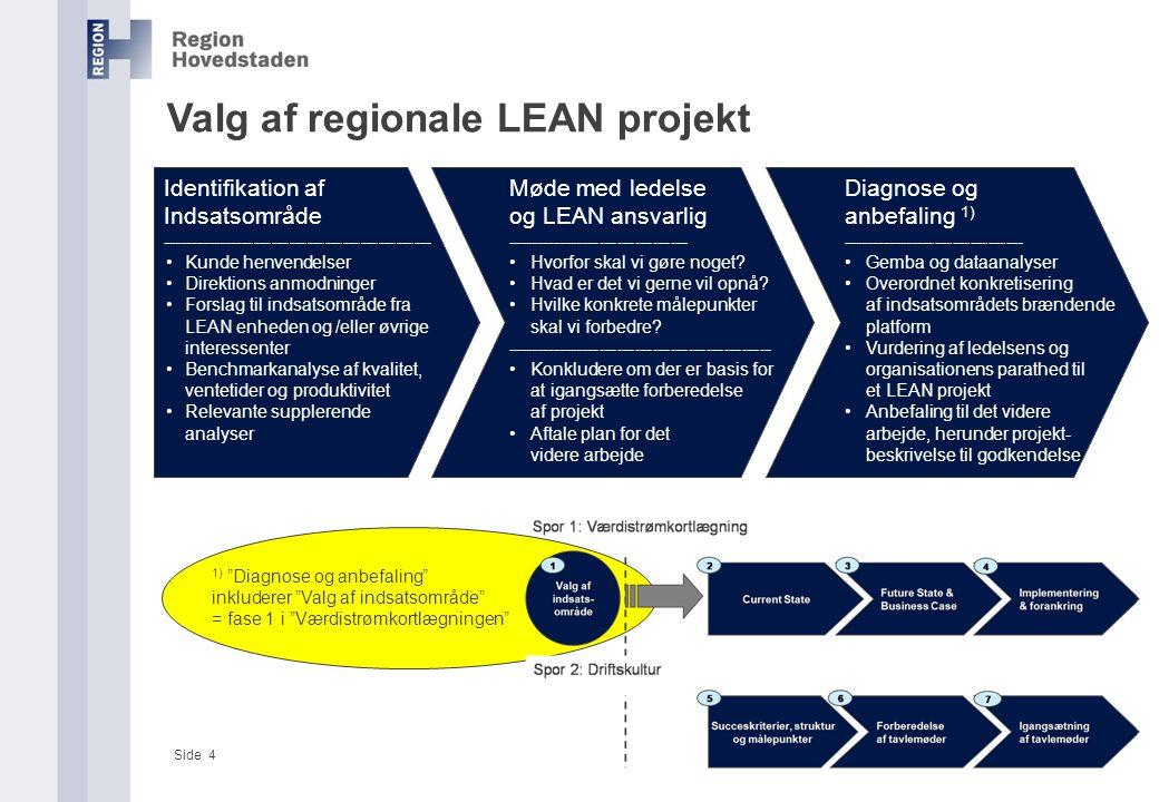 Valg af regionale LEAN projekt