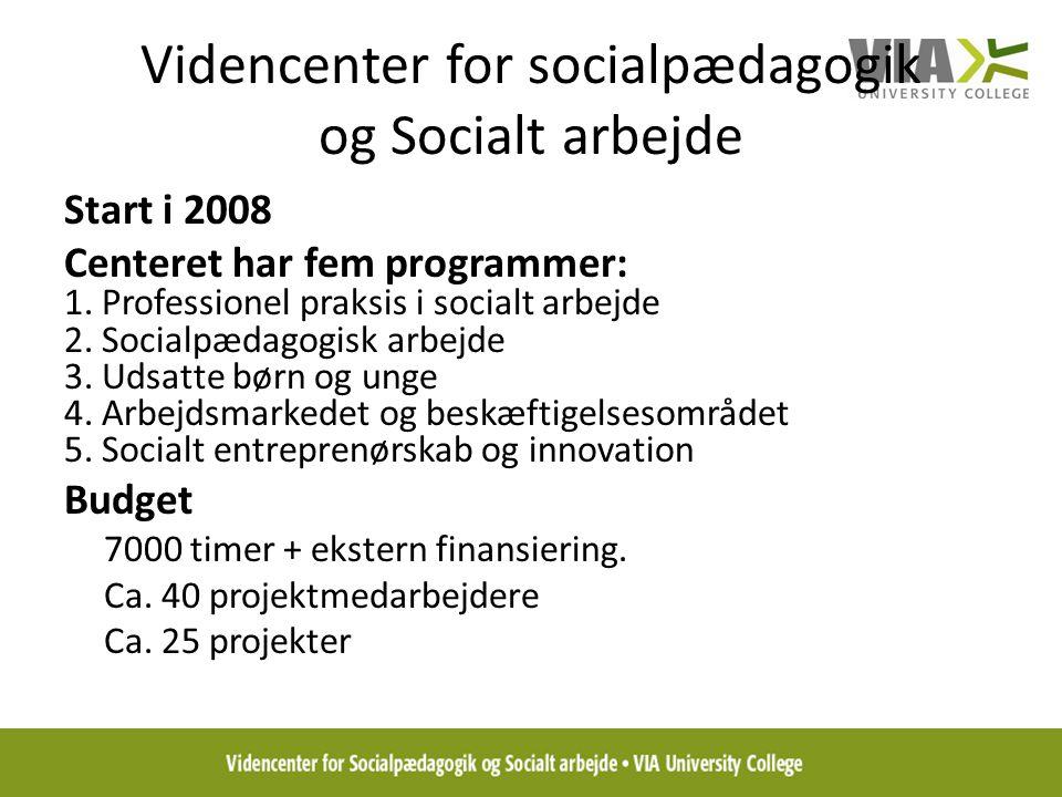 Videncenter for socialpædagogik og Socialt arbejde
