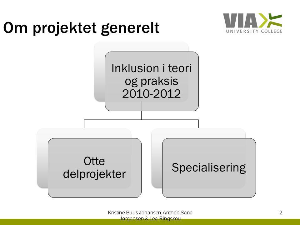 Om projektet generelt Inklusion i teori og praksis 2010-2012