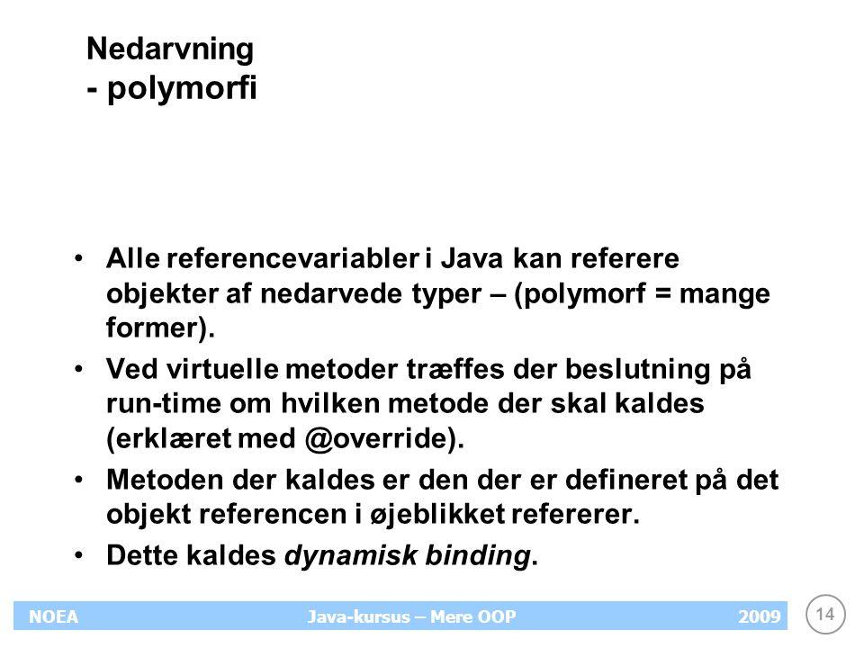 Nedarvning - polymorfi