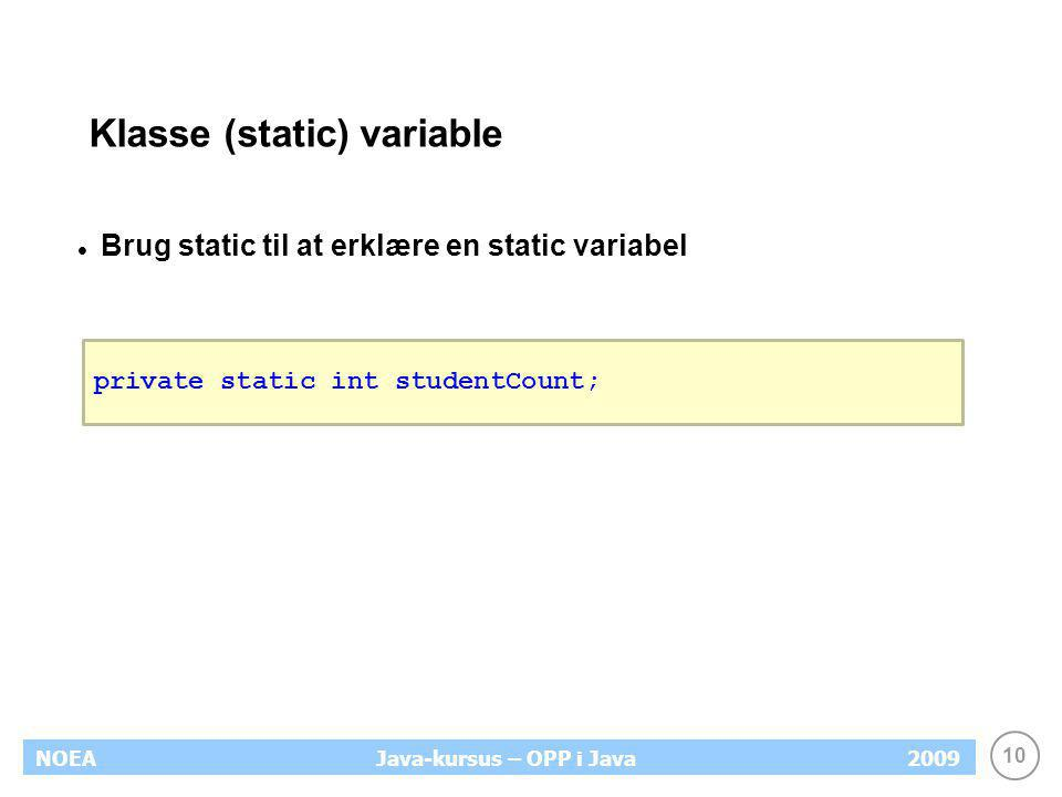 Klasse (static) variable