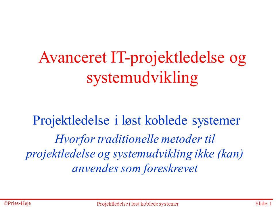 Avanceret IT-projektledelse og systemudvikling