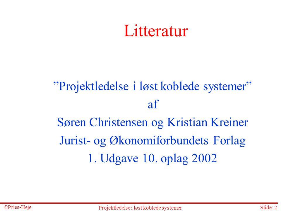 Litteratur Projektledelse i løst koblede systemer af