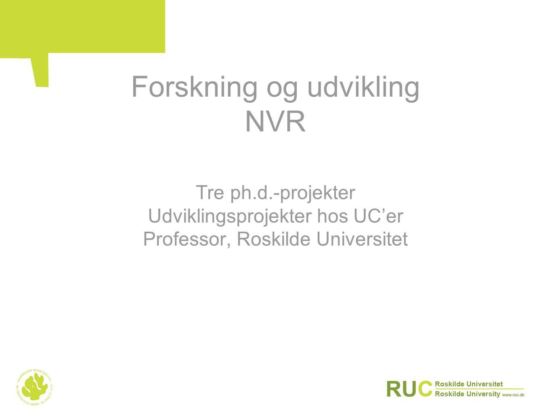 Forskning og udvikling NVR