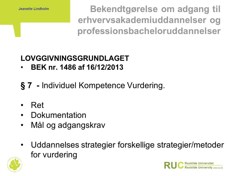 Bekendtgørelse om adgang til erhvervsakademiuddannelser og professionsbacheloruddannelser
