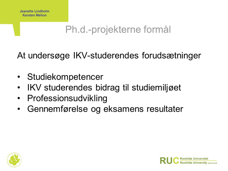 Ph.d.-projekterne formål