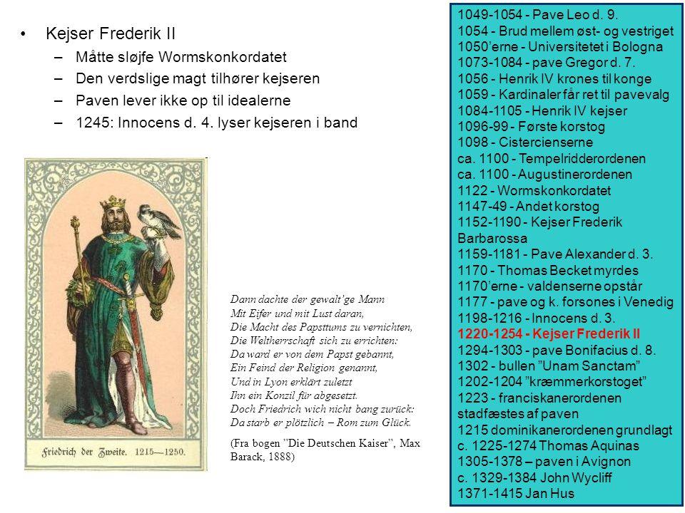 Kejser Frederik II Måtte sløjfe Wormskonkordatet