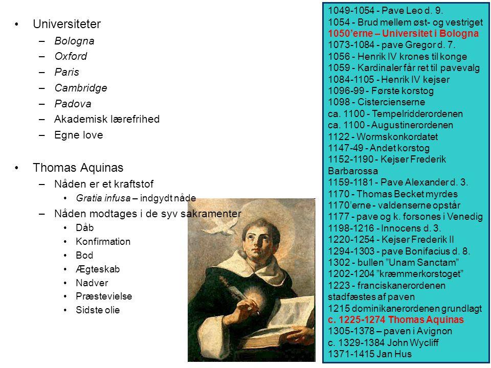 Universiteter Thomas Aquinas Bologna Oxford Paris Cambridge Padova