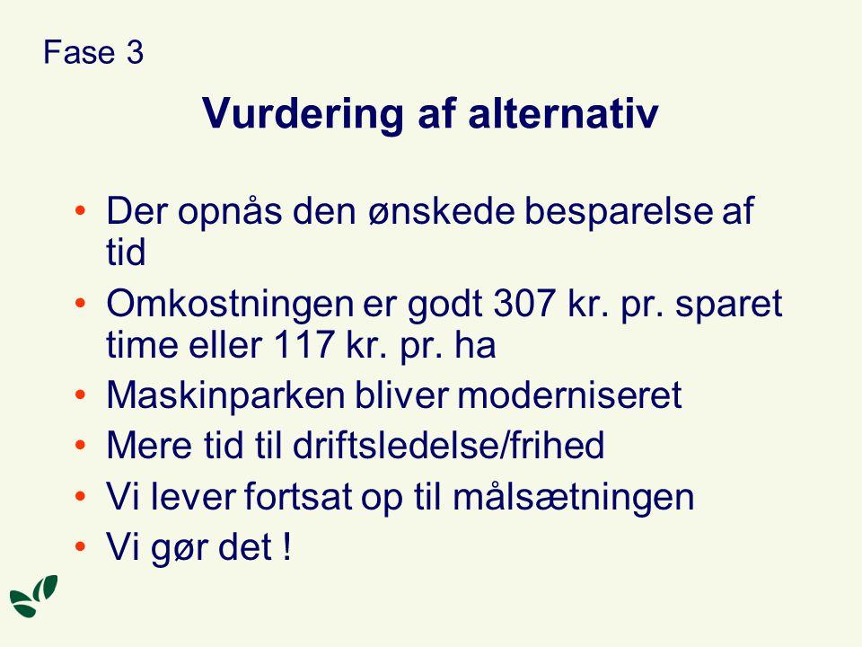 Vurdering af alternativ