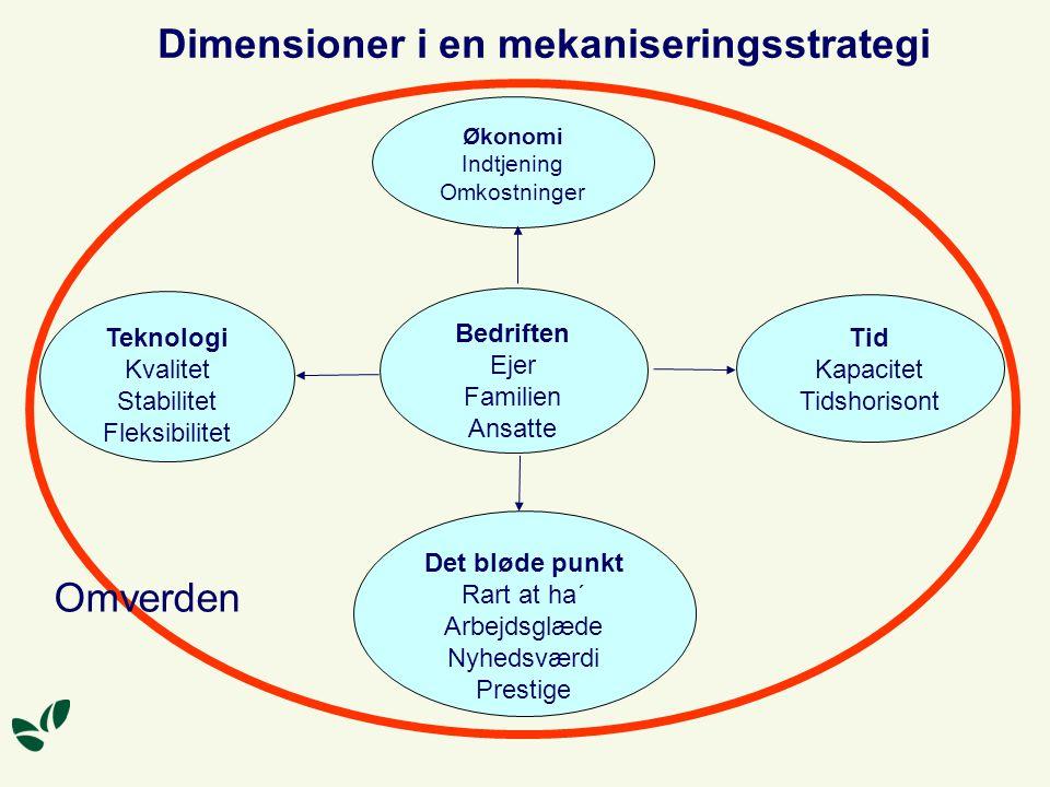 Dimensioner i en mekaniseringsstrategi