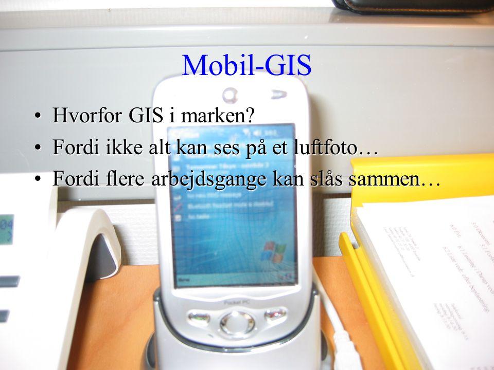Mobil-GIS Hvorfor GIS i marken Fordi ikke alt kan ses på et luftfoto…