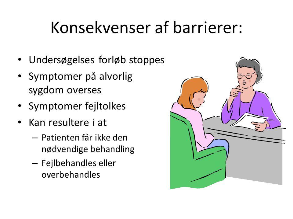 Konsekvenser af barrierer: