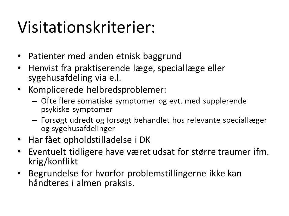 Visitationskriterier:
