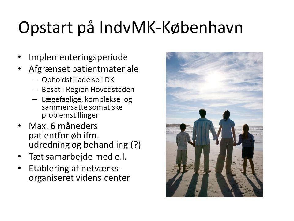 Opstart på IndvMK-København